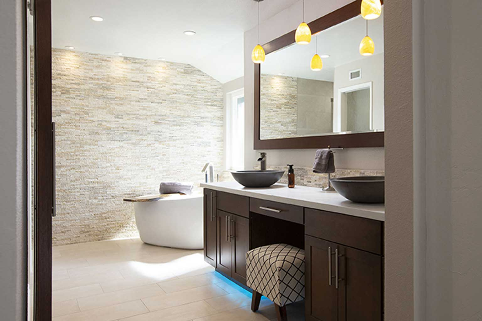 Bathroom Remodel Stack Stone Scripps Ranch