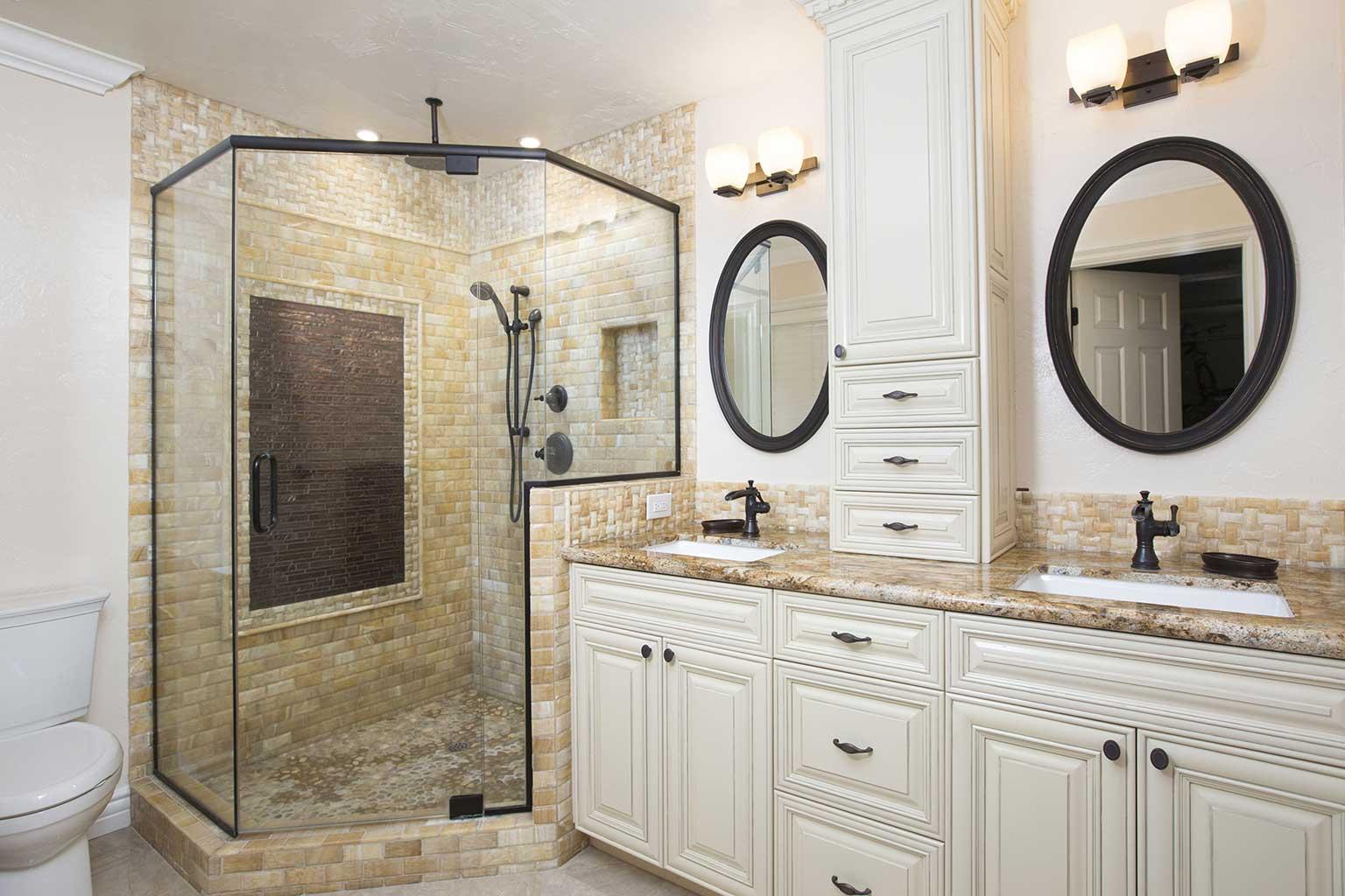 Bathroom Remodel only tile Point Loma Onyx Tile