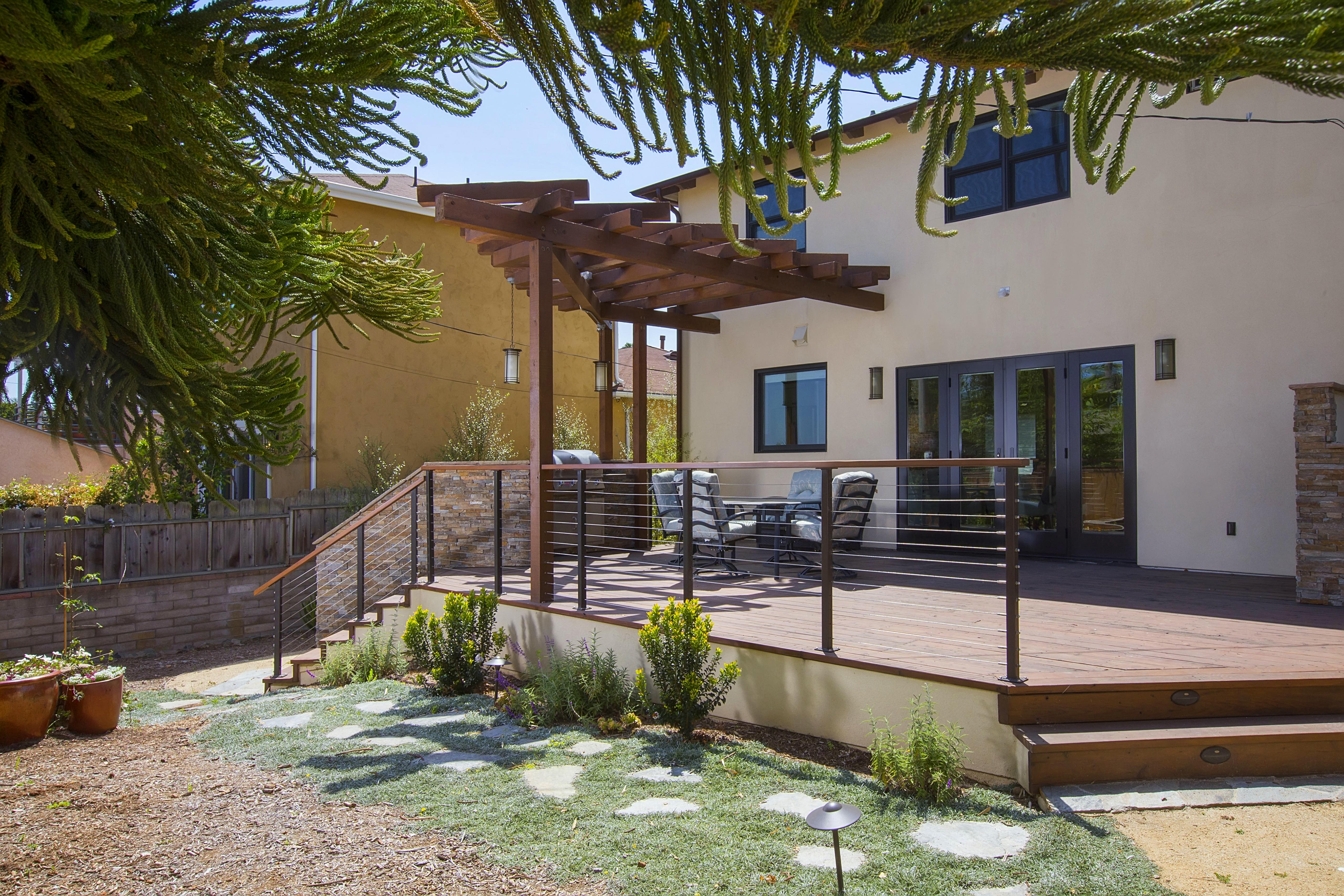 Outdoor Living Architectural Pergola BBQ island Remodel Rancho Bernado