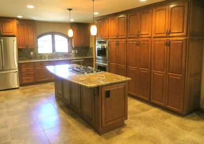 Arched Window Custom Cabinets Kitchen Renovation