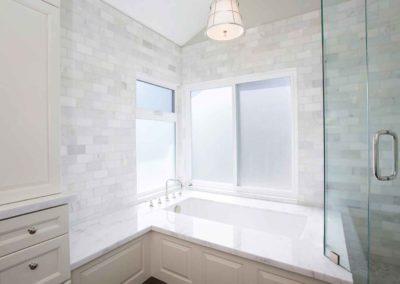 Calcutta Marble Subway Tile Bathroom Renovation