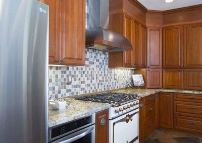 Cherry Cabinets Granite Bluestar Kitchen Remodel