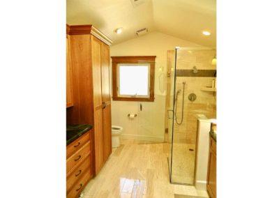Curb-less Shower Bathroom Remodel