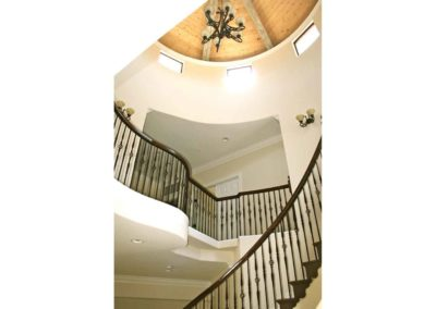 Curved Staircase Custom Home Building