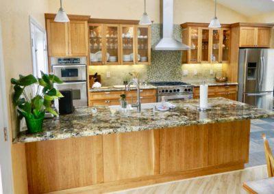 Custom Cherry Shaker Cabinets Kitchen Renovation