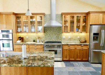 Glass Shaker Cabinets Kitchen Remodel