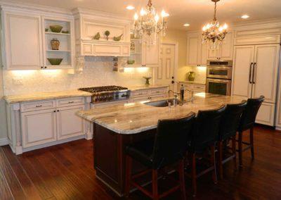 Glazed Cabinets Spice Racks Kitchen Remodel