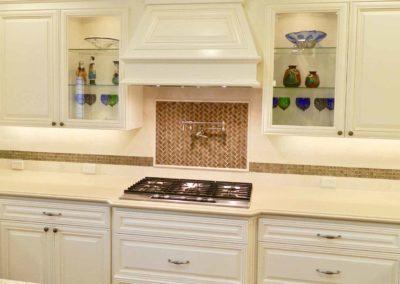 Herringbone Tile Custom Kitchen Remodel