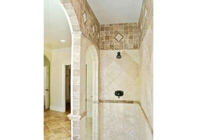 Inlaid Tile Bathroom Remodel