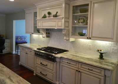 Marble Countertops Inlaid tile Kitchen Removation