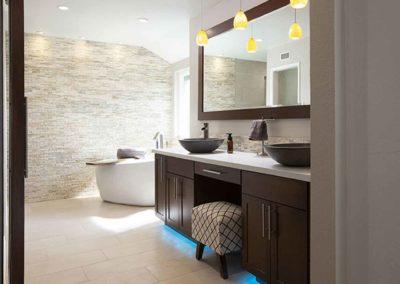 Stack Stone Custom Lighting Bathroom Renovation