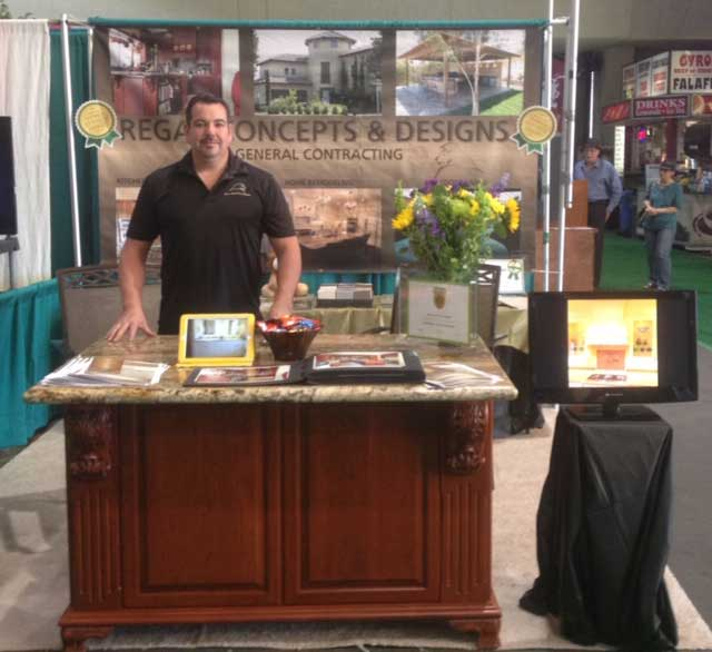 Paul Lyttle owner of Regal Concepts and Designs at the Spring Home and Garden Show